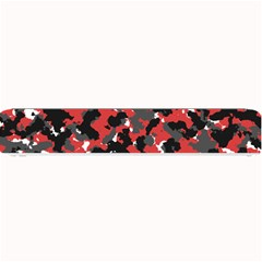 Bloodshot Camo Red Urban Initial Camouflage Small Bar Mats by Mariart