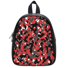 Bloodshot Camo Red Urban Initial Camouflage School Bags (small)  by Mariart