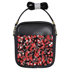 Bloodshot Camo Red Urban Initial Camouflage Girls Sling Bags by Mariart