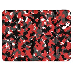 Bloodshot Camo Red Urban Initial Camouflage Samsung Galaxy Tab 7  P1000 Flip Case by Mariart