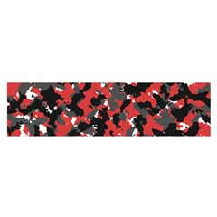 Bloodshot Camo Red Urban Initial Camouflage Satin Scarf (oblong)