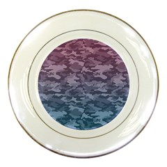 Celebration Purple Pink Grey Porcelain Plates by Mariart