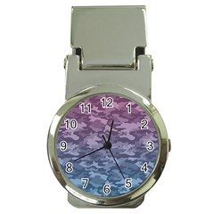 Celebration Purple Pink Grey Money Clip Watches by Mariart
