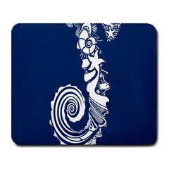 Coral Life Sea Water Blue Fish Star Large Mousepads by Mariart