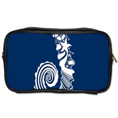 Coral Life Sea Water Blue Fish Star Toiletries Bags by Mariart