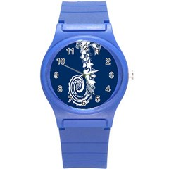 Coral Life Sea Water Blue Fish Star Round Plastic Sport Watch (s) by Mariart