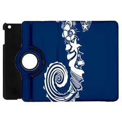 Coral Life Sea Water Blue Fish Star Apple Ipad Mini Flip 360 Case by Mariart