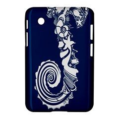 Coral Life Sea Water Blue Fish Star Samsung Galaxy Tab 2 (7 ) P3100 Hardshell Case  by Mariart