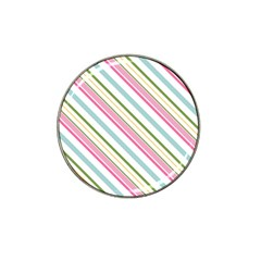 Diagonal Stripes Color Rainbow Pink Green Red Blue Hat Clip Ball Marker by Mariart