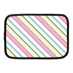 Diagonal Stripes Color Rainbow Pink Green Red Blue Netbook Case (medium)