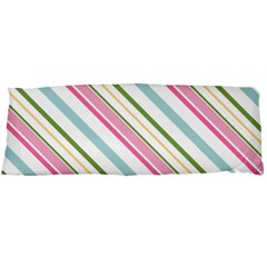 Diagonal Stripes Color Rainbow Pink Green Red Blue Body Pillow Case Dakimakura (two Sides) by Mariart