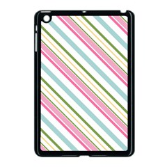 Diagonal Stripes Color Rainbow Pink Green Red Blue Apple Ipad Mini Case (black) by Mariart