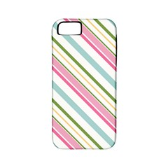 Diagonal Stripes Color Rainbow Pink Green Red Blue Apple Iphone 5 Classic Hardshell Case (pc+silicone) by Mariart