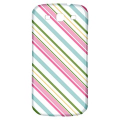 Diagonal Stripes Color Rainbow Pink Green Red Blue Samsung Galaxy S3 S Iii Classic Hardshell Back Case by Mariart