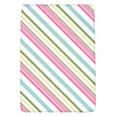 Diagonal Stripes Color Rainbow Pink Green Red Blue Flap Covers (l)  by Mariart