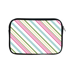 Diagonal Stripes Color Rainbow Pink Green Red Blue Apple Ipad Mini Zipper Cases by Mariart