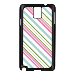 Diagonal Stripes Color Rainbow Pink Green Red Blue Samsung Galaxy Note 3 N9005 Case (black) by Mariart
