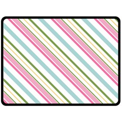 Diagonal Stripes Color Rainbow Pink Green Red Blue Double Sided Fleece Blanket (large)  by Mariart