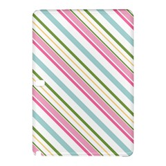 Diagonal Stripes Color Rainbow Pink Green Red Blue Samsung Galaxy Tab Pro 10 1 Hardshell Case by Mariart
