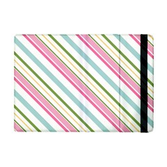 Diagonal Stripes Color Rainbow Pink Green Red Blue Ipad Mini 2 Flip Cases by Mariart