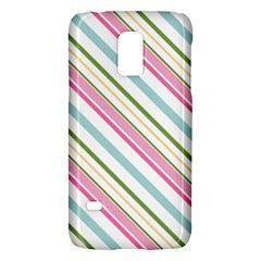 Diagonal Stripes Color Rainbow Pink Green Red Blue Galaxy S5 Mini by Mariart