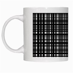 Crosshatch Target Line Black White Mugs by Mariart