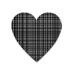 Crosshatch Target Line Black Heart Magnet by Mariart