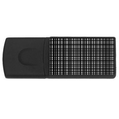 Crosshatch Target Line Black Usb Flash Drive Rectangular (4 Gb) by Mariart