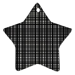 Crosshatch Target Line Black Star Ornament (two Sides) by Mariart