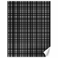 Crosshatch Target Line Black Canvas 12  X 16   by Mariart