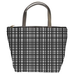 Crosshatch Target Line Black Bucket Bags by Mariart
