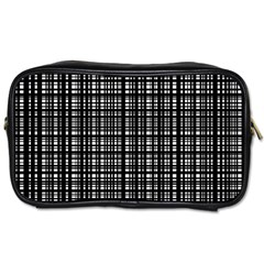 Crosshatch Target Line Black Toiletries Bags by Mariart