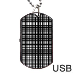 Crosshatch Target Line Black Dog Tag Usb Flash (two Sides) by Mariart