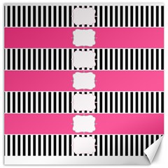 Custom Water Bottle Labels Line Black Pink Canvas 12  X 12   by Mariart