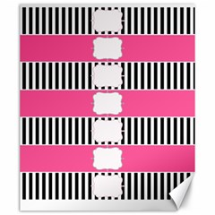Custom Water Bottle Labels Line Black Pink Canvas 20  X 24   by Mariart