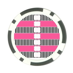 Custom Water Bottle Labels Line Black Pink Poker Chip Card Guard by Mariart