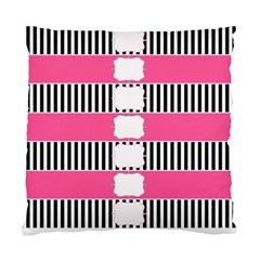 Custom Water Bottle Labels Line Black Pink Standard Cushion Case (one Side) by Mariart