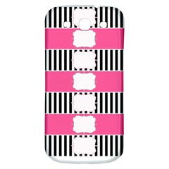 Custom Water Bottle Labels Line Black Pink Samsung Galaxy S3 S Iii Classic Hardshell Back Case by Mariart