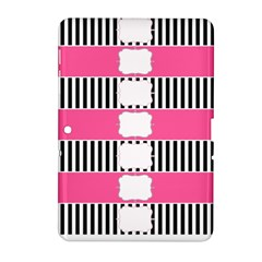 Custom Water Bottle Labels Line Black Pink Samsung Galaxy Tab 2 (10 1 ) P5100 Hardshell Case  by Mariart