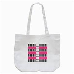 Custom Water Bottle Labels Line Black Pink Tote Bag (white) by Mariart