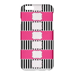 Custom Water Bottle Labels Line Black Pink Apple Iphone 6 Plus/6s Plus Hardshell Case by Mariart