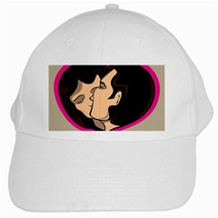 Don t Kiss With A Bloody Nose Face Man Girl Love White Cap by Mariart
