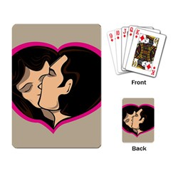 Don t Kiss With A Bloody Nose Face Man Girl Love Playing Card by Mariart