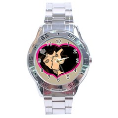 Don t Kiss With A Bloody Nose Face Man Girl Love Stainless Steel Analogue Watch by Mariart