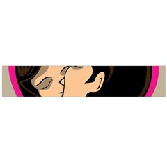 Don t Kiss With A Bloody Nose Face Man Girl Love Flano Scarf (large) by Mariart