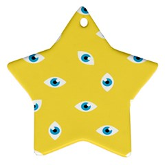 Eye Blue White Yellow Monster Sexy Image Ornament (star) by Mariart