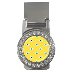 Eye Blue White Yellow Monster Sexy Image Money Clips (cz)  by Mariart