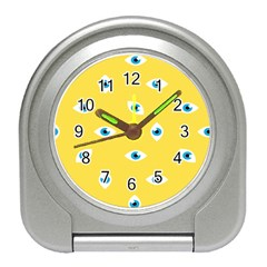 Eye Blue White Yellow Monster Sexy Image Travel Alarm Clocks by Mariart