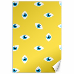 Eye Blue White Yellow Monster Sexy Image Canvas 12  X 18   by Mariart