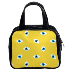 Eye Blue White Yellow Monster Sexy Image Classic Handbags (2 Sides) by Mariart